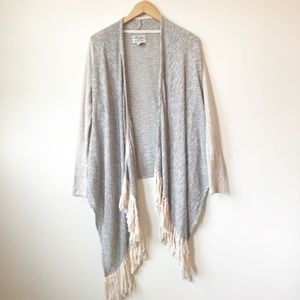 Lucky Brand Waterfall Knit Mixed Media Cardigan